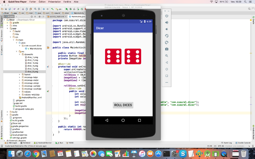Create a Roll Dice Game on Android with Shake Effect