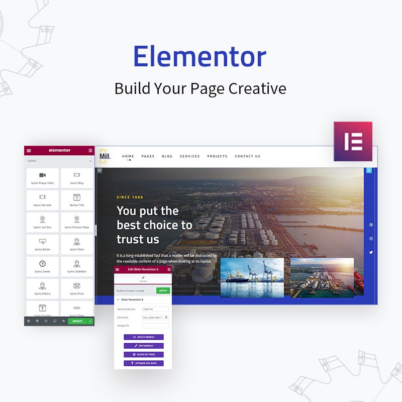 Mill | Industry Engineering Factory WordPress Theme  Elementor Page Builder: Lots Of Aces Up Its Sleeve! 1 h0mJNixeLbP9046GC0VhTA