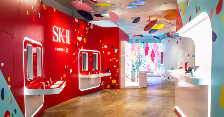 SK-II's latest pop-up smart store, AI and robots attend to