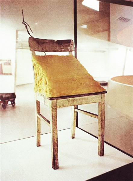 Colour photograph of Joseph Beuys's Fat Chair (1964–1985)