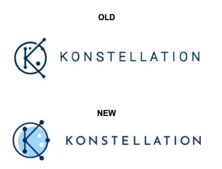 Old and new Konstellation logos