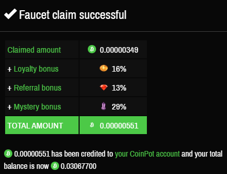 Bitcoin Cash faucet claim from Moon Cash