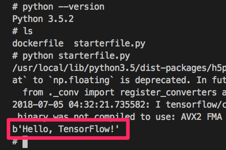 Easiest way to setup a Tensorflow Python3 environment with Docker