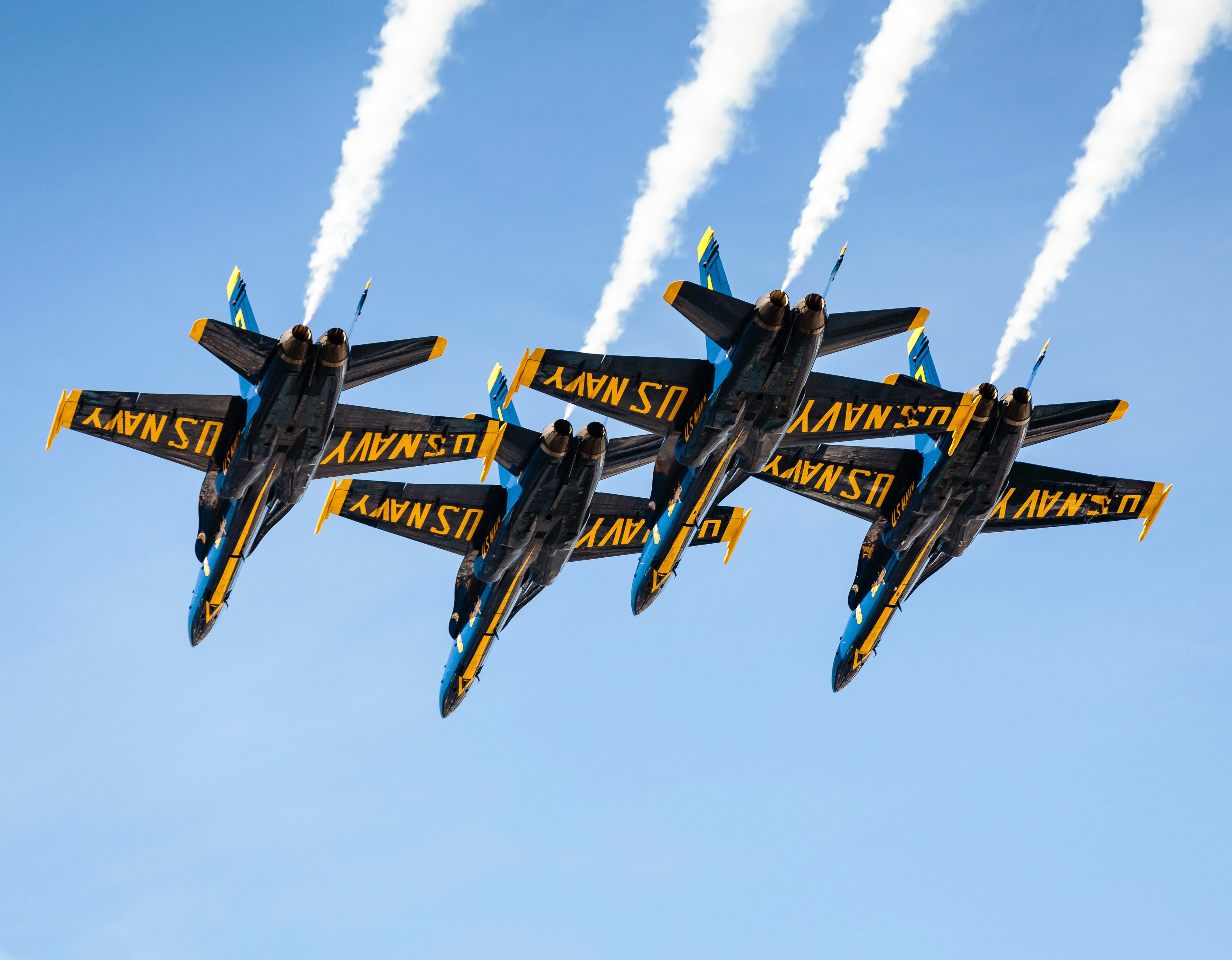 Blue angels during air show posted on Mickey Markoff article 'prowling the skies-do you know your air & sea show history