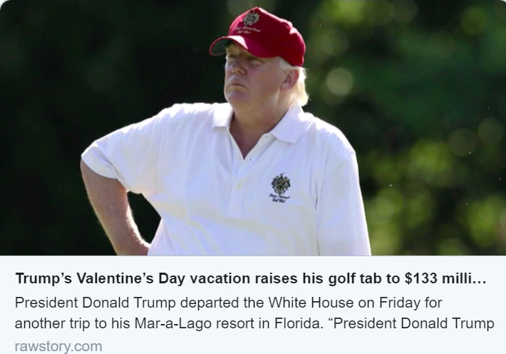 trump had a rough time golfing thru the rain at Mar-a-del-largo