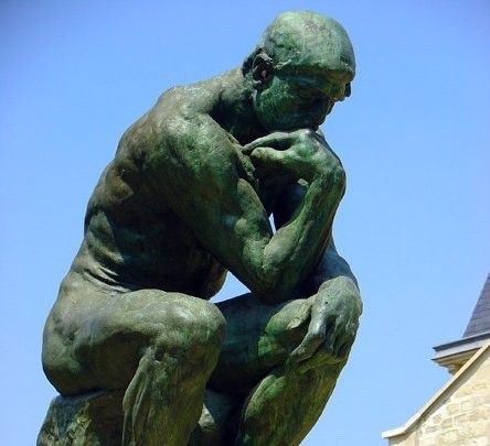 The Thinker sclupture