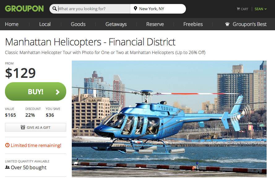 Groupon.com (Events & Activities category)