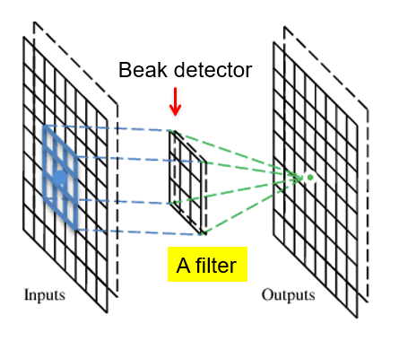 Figure 15: Convolutional layer with filter. | Convolutional Neural Networks (CNNs)