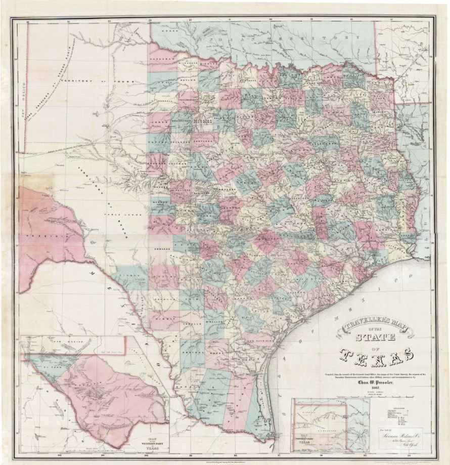 Traveller\'s [sic] Map of the State of Texas - Save Texas ...