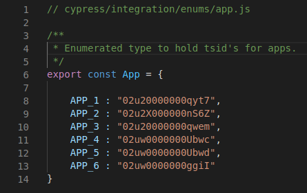Implementation of the App enum.