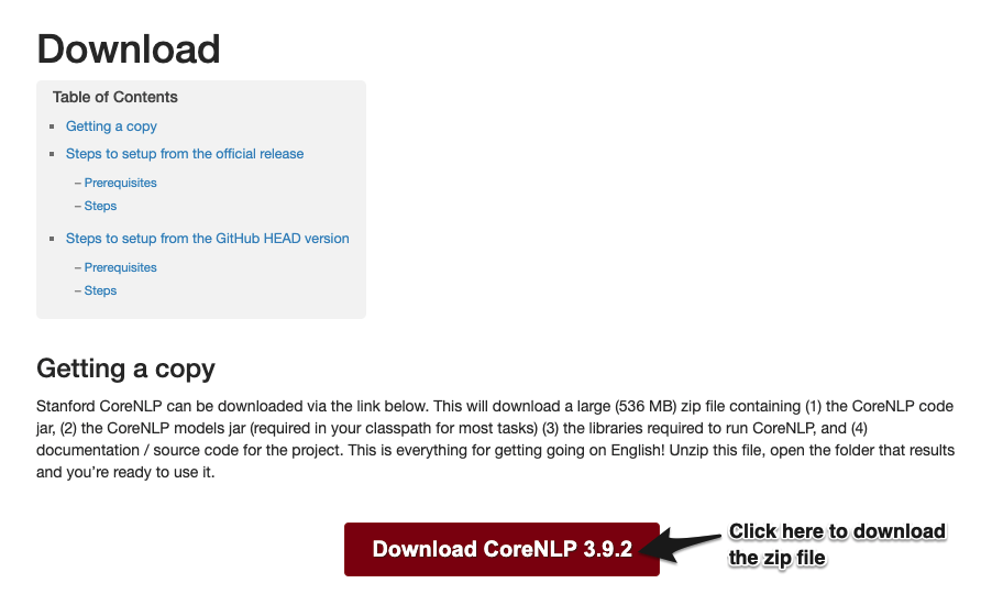 MacOSX Setup Guide For Using Stanford CoreNLP - Shan Dou