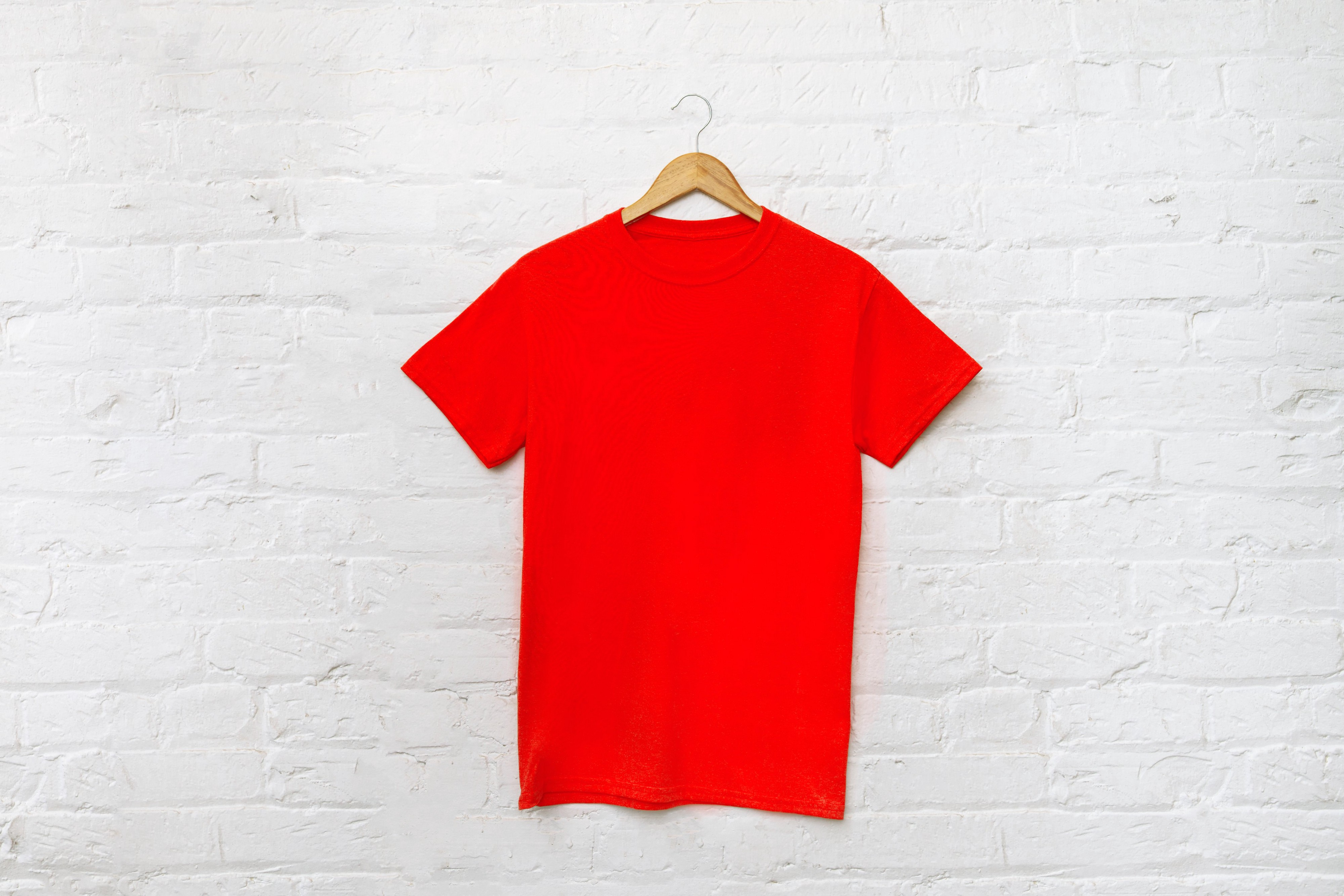 a t-shirt on a hanger to redesign for a Braille Christmas