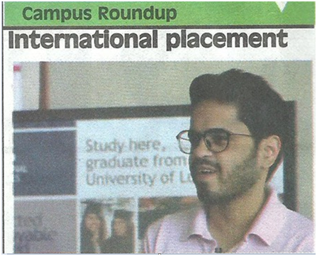 ISBF Student Got International Placement - ISBF - Medium