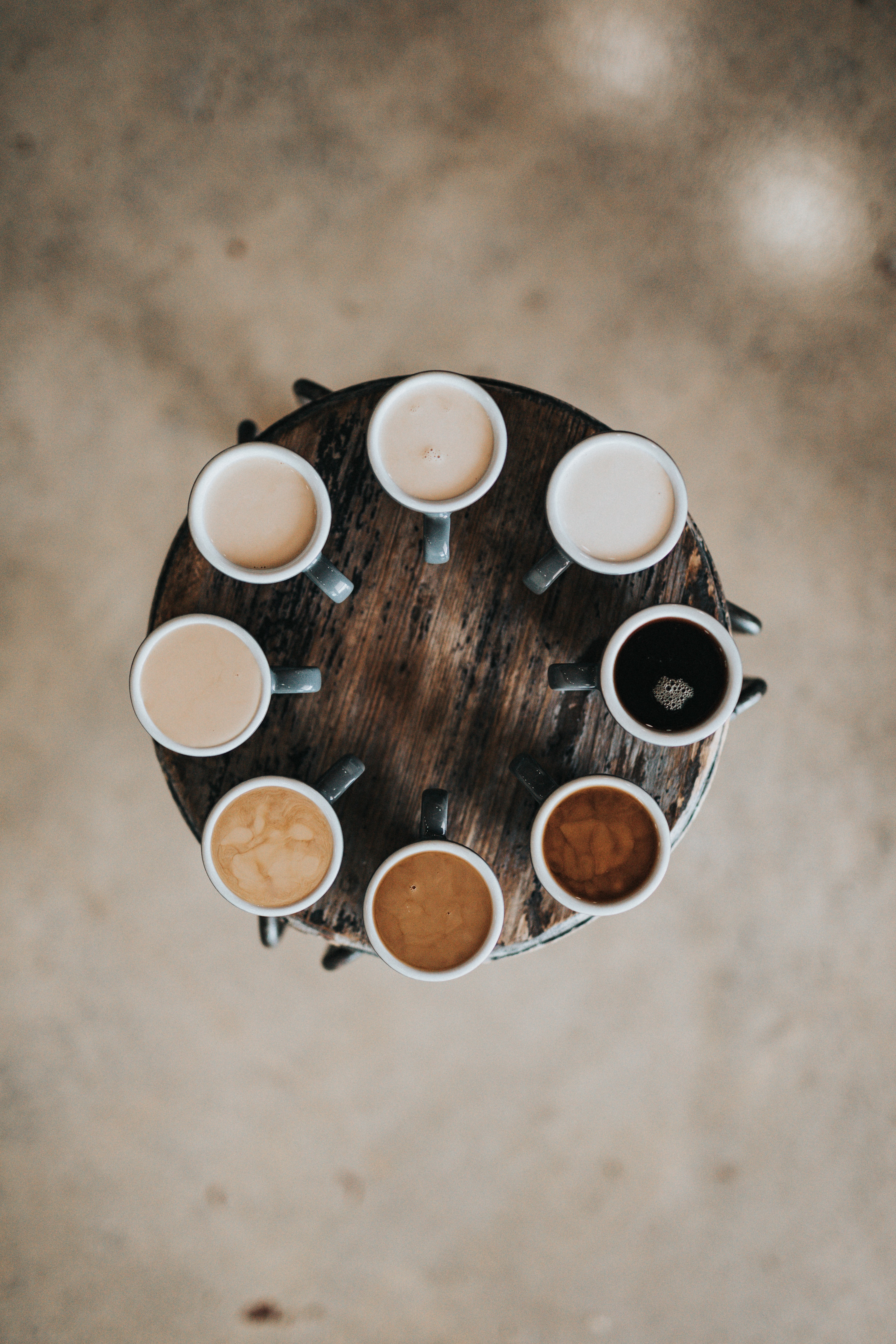 Coffee in many forms represents break time and the time to wake up.