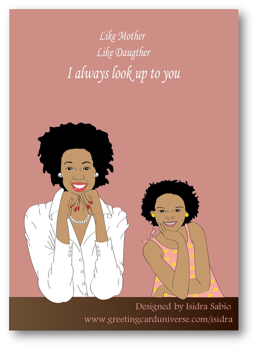 mother african happy mom clipart daughter mothers quotes birthday cards daughters greeting father transparent chose afrocentric americans son poems visit