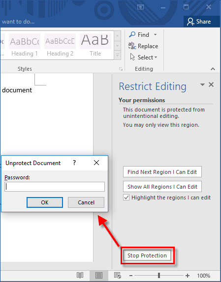 How to Set and Remove Restrict Editing in Word 2016 Document | by Jolie  Morris | Medium