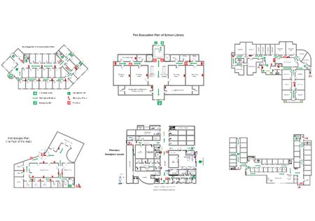 starting with templates which it provides for users will boost efficiency  for fire escape diagram designers especially beginners  all built-in  templates are