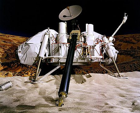 A mockup image of one of the Viking landers.