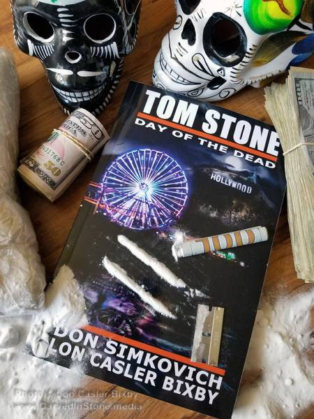 Cover for Tom Stone: Day of the Dead with white powder on it