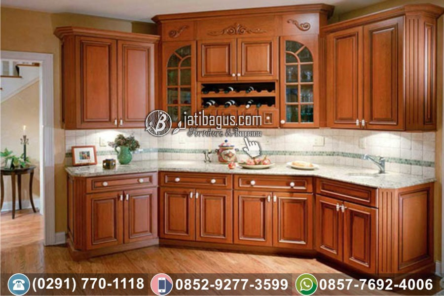 Jual Kitchen Set Minimalis Jati Asli By Jatibagus Jepara Medium