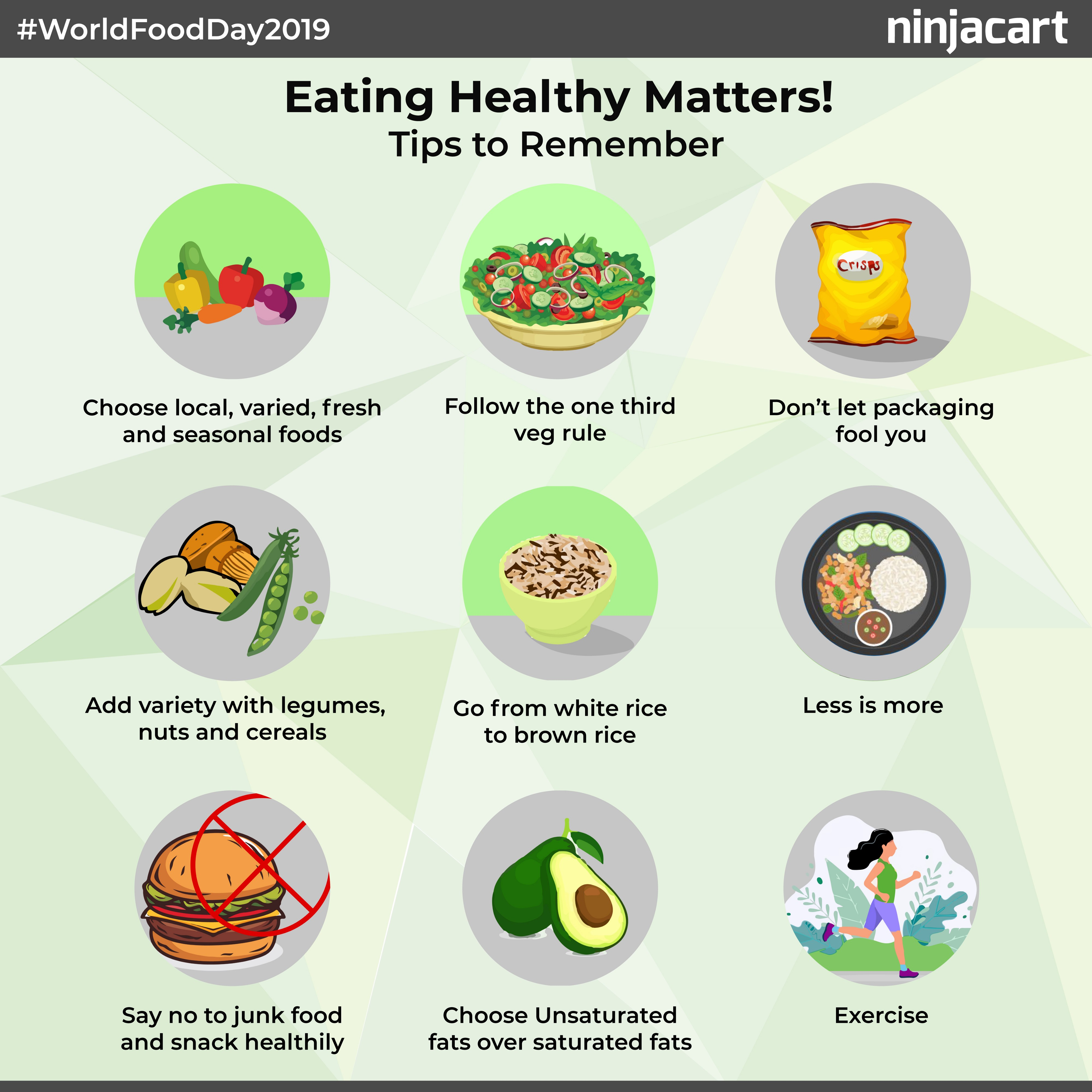 World Food Day 2019: 7 easy steps to ensure you eat a healthy diet and lead  a healthy life | by Ninjacart | Ninjacart | Medium
