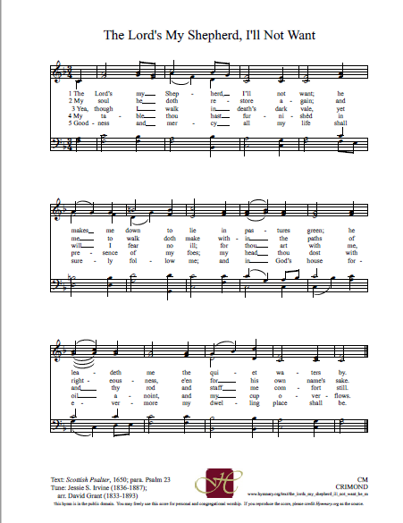 A Psalm of David  - Reflections on Music, Worship, and