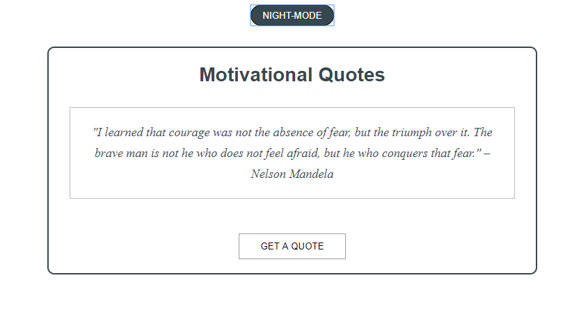 A Random Quote Generator With A NightDay Feature Tutorial New Random Quote Generator