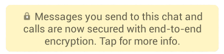 WhatsApp's encryption message png