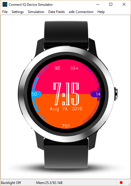 Making a watchface for Garmin devices - Joshua Miller - Medium