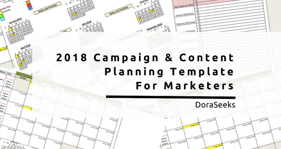 Marketing Campaign Template | 2018 Free Annual Marketing Campaign Planning Template