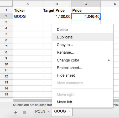 Get free stock price alert emails with Google Sheets, Gmail