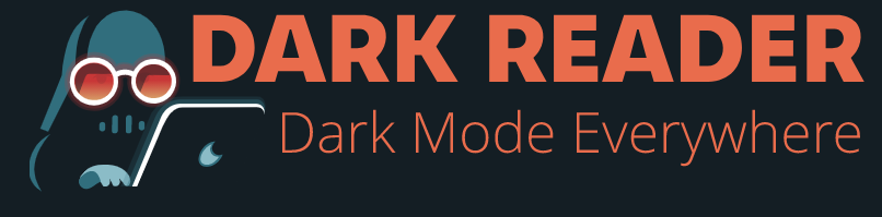 A logo for Dark Reach, which appears to be an illustration of Darth Vader at a laptop.