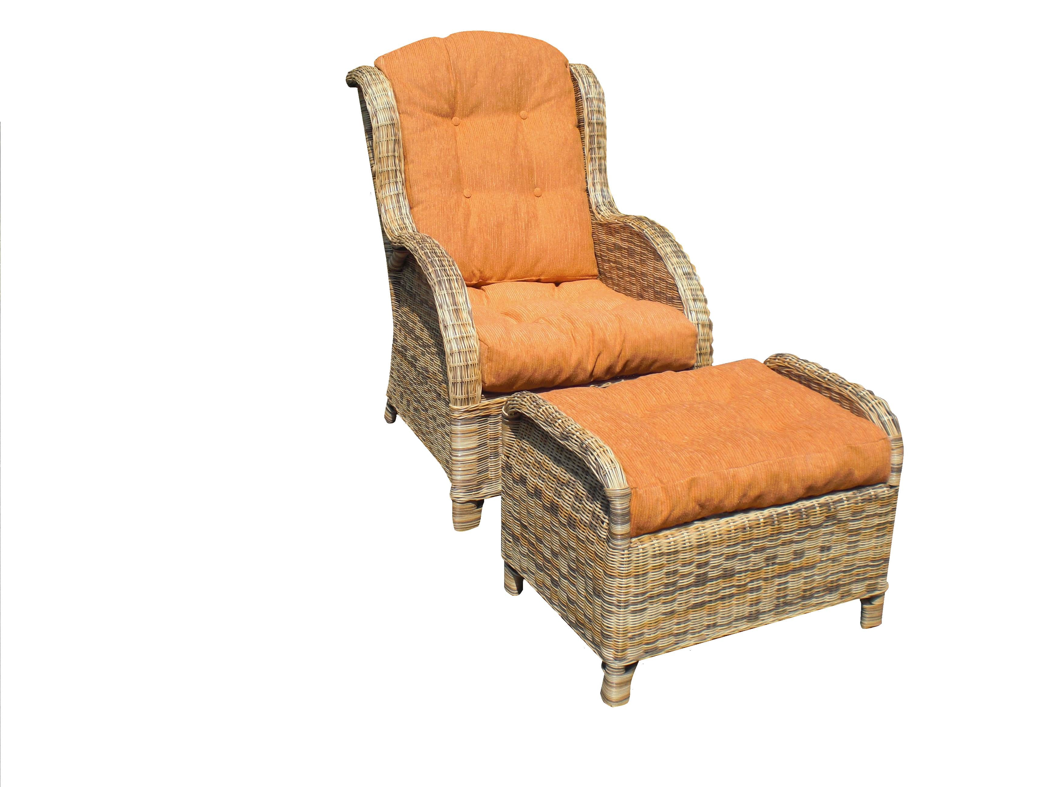 Purchase Wicker Chair With Ottoman For Living Room Dedi