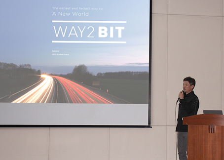 CEO of WAY2BIT presented the theme of ' A Combination of