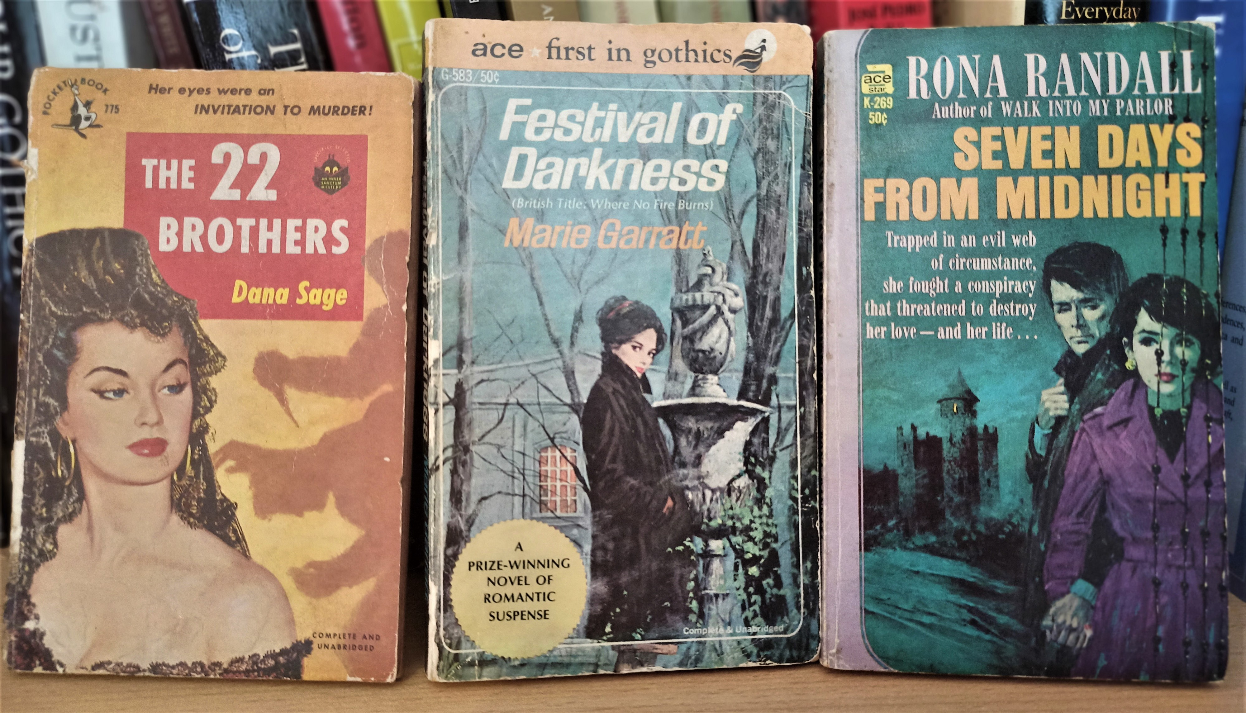 """Ca. mid 19th century """"pulp""""-style novels. Photo by the author."""