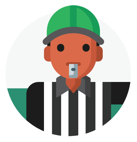 An illustration of a referee
