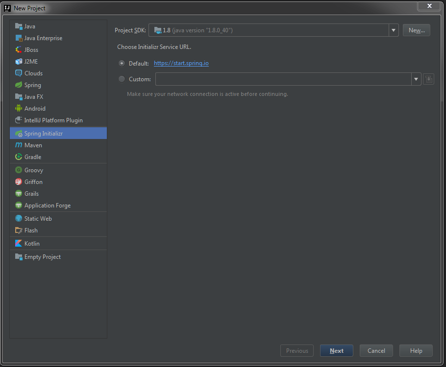 spring framework download for intellij idea