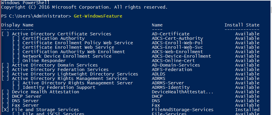 Install AD DS, DNS, and DHCP using Powershell on Windows