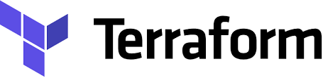 Terraform logo. Infrastructure as code on the cloud.