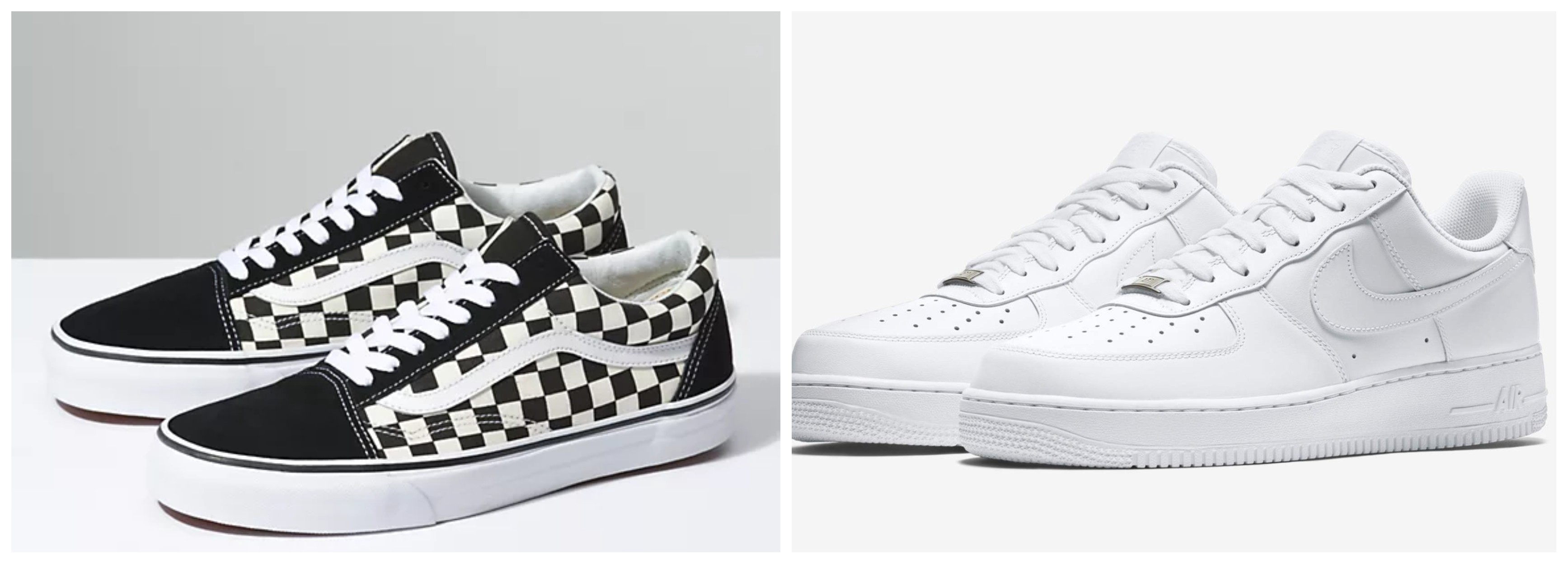 Vans or Air Force 1's?. Both shoes are