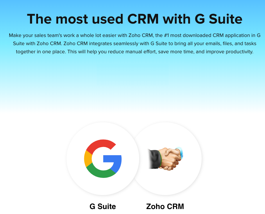 Zoho CRM Integration with G Suite/Gmail - Pawa IT Solutions