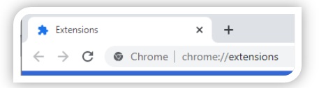 Chrome—Extension page.