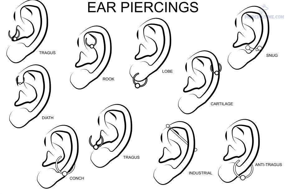 type of ear piercings