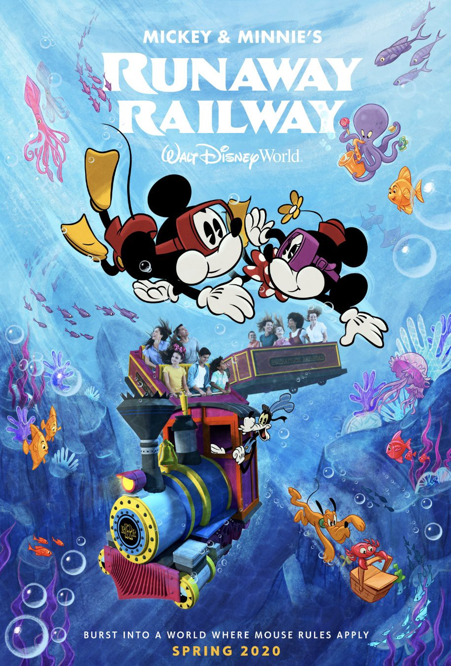 First Day Spring 2020.Mickey Minnie S Runaway Railway Receives New Poster