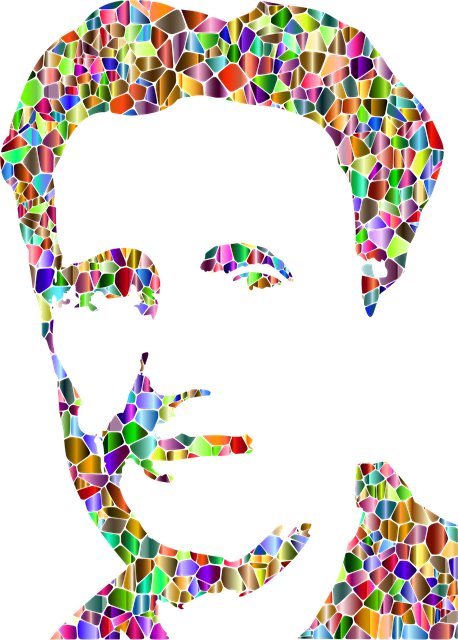 An abstract of George Orwell, author of 1984