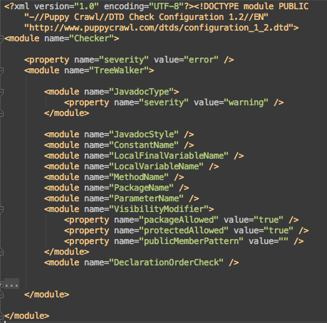 Writing Checkstyle rules with Android Studio - Liudas