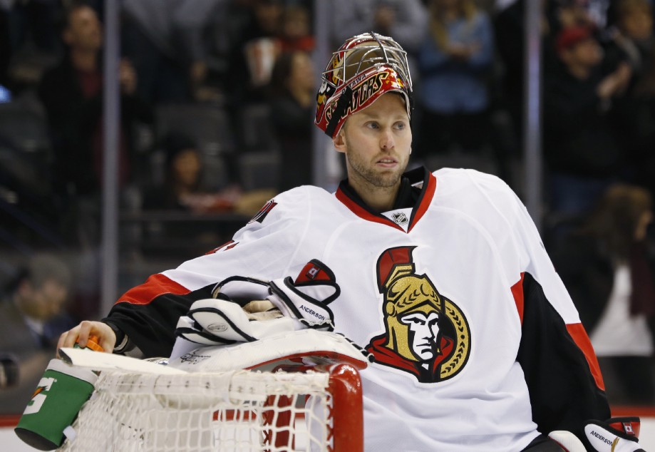 Ottawa Senators Backup Goalie Craig Anderson Signs 2 000