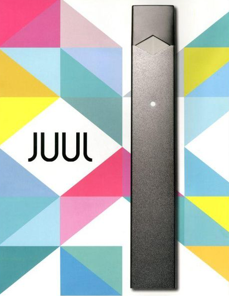 Ad from Juul showing their sleek vaping pen