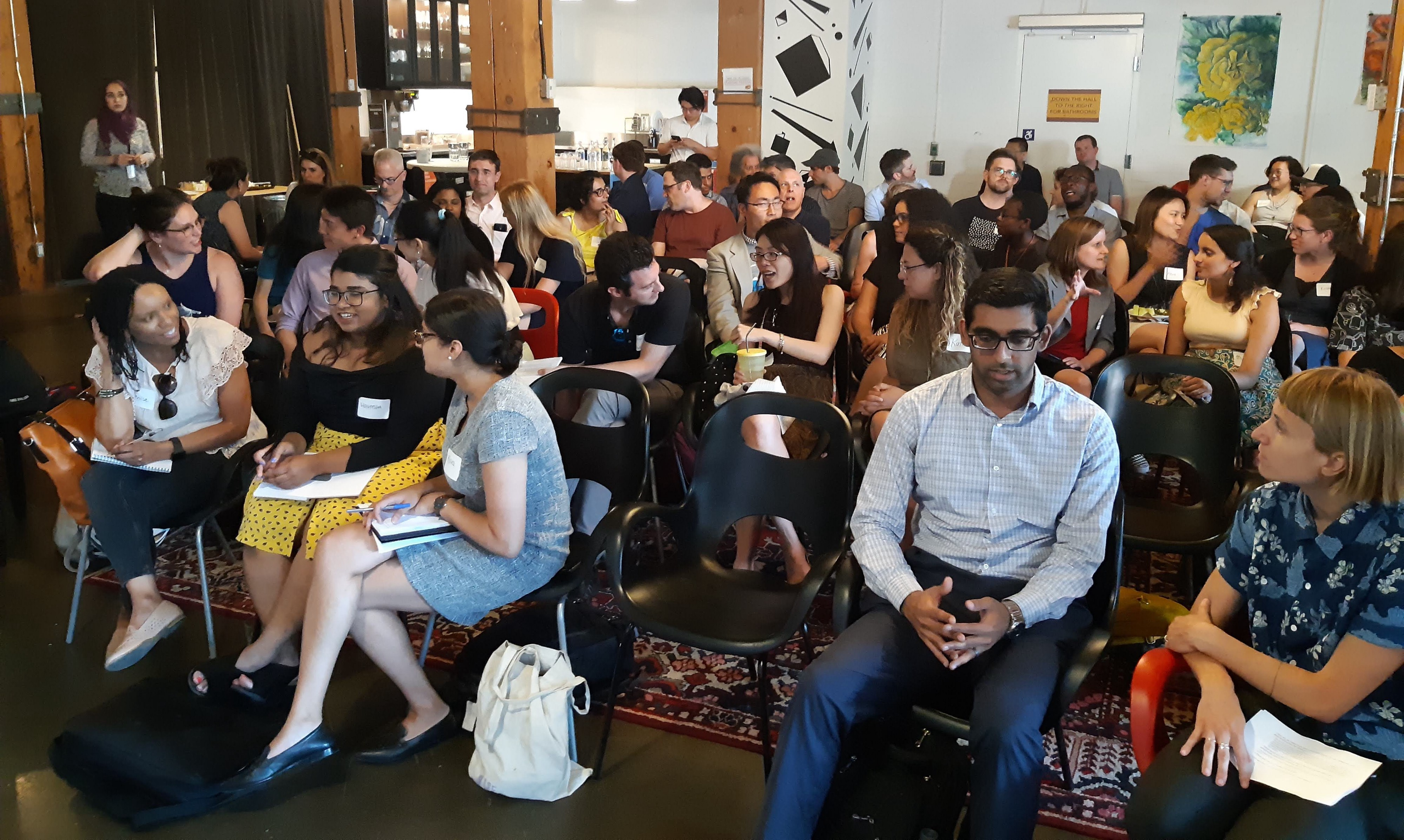 A full house at our Public Salon on Data, Policy-Making and City-Building on July 10.