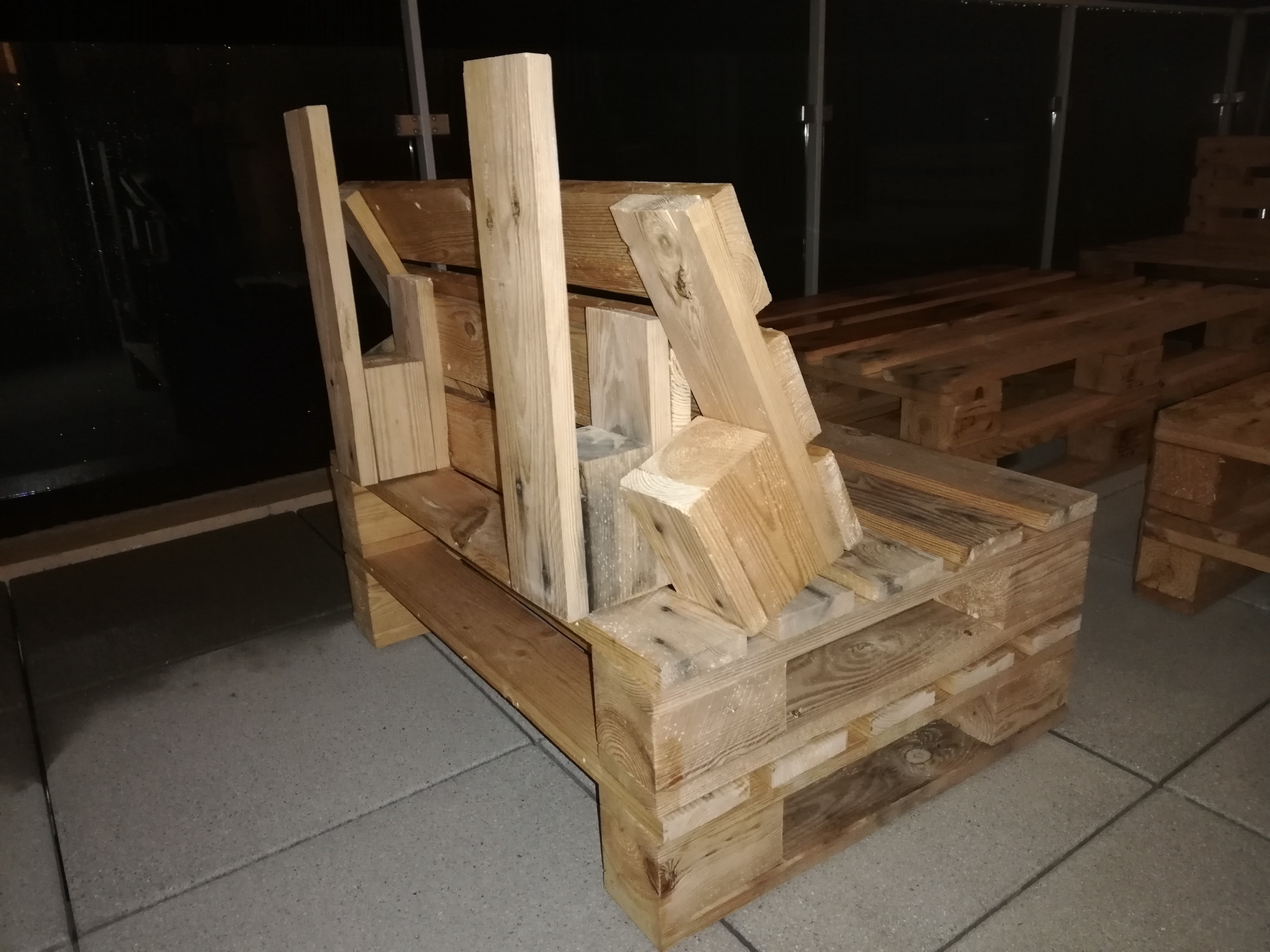 The Metaphor Of Seats Made Out Of Wooden Pallets Its Your Turn